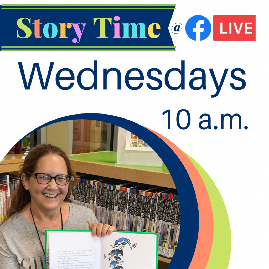 Story time is live on the Jackson County Public Library Facebook Page- Wednesdays at 10 a.m.