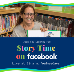 Peggy Reading for Story Time on Facebook: Wednesdays 10 a.m.