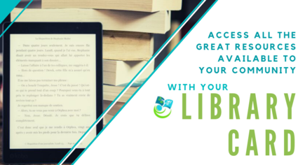 Access your library with your library card