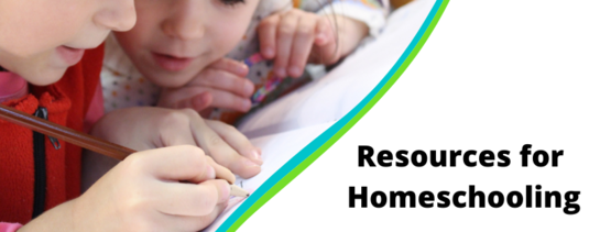 Resources for Homeschooling, 2 kids writing notes